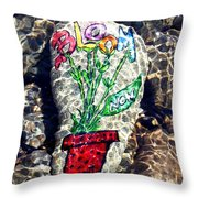 Bloom Now Throw Pillow
