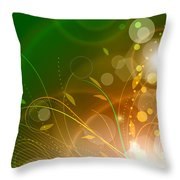 Bloom Throw Pillow by Sandra Hoefer
