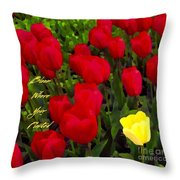 Bloom Where Your Planted Throw Pillow