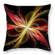 Bloom With Red Throw Pillow