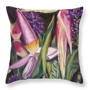 Bloomin Banana Throw Pillow