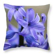 Bloomin Blue Throw Pillow