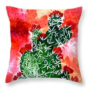 Bloomin Cactus Throw Pillow