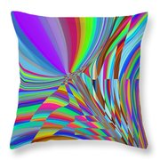 Bloomin Colorful Throw Pillow