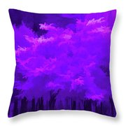Blooming Amethyst Throw Pillow