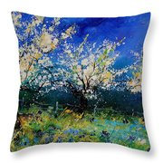 Blooming Appletrees 56 Throw Pillow