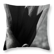 Blooming Black And White Throw Pillow