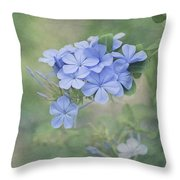 Blooming Blues Throw Pillow