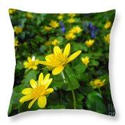 Blooming Buttercups. Throw Pillow