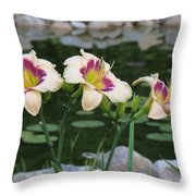 Blooming By The Pond Throw Pillow