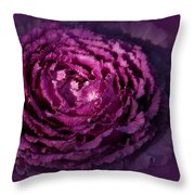 Blooming Cabbage Throw Pillow