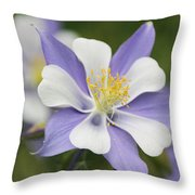 Blooming Columbine Throw Pillow