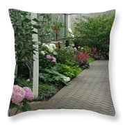 Blooming Conservatory Throw Pillow