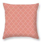 Blooming Dahlia Quatrefoil Throw Pillow
