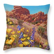 Blooming Desert Throw Pillow