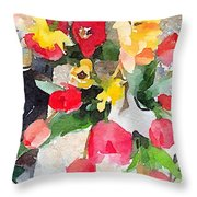 Blooming Fools Throw Pillow