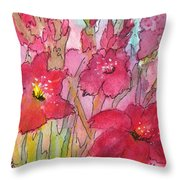 Blooming Glads Throw Pillow