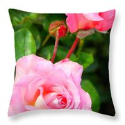 Blooming In Phases Throw Pillow