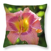 Blooming In Pink Throw Pillow