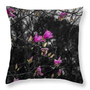Blooming In The Rain Throw Pillow