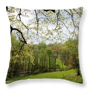 Blooming Landscape Throw Pillow