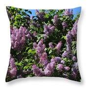 Blooming Lilacs Throw Pillow