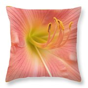Blooming Lily Throw Pillow