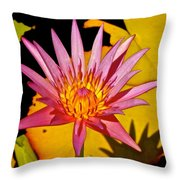 Blooming Lotus Flower Throw Pillow