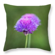 Blooming Onion Chives Throw Pillow