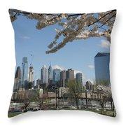 Blooming Philadelphia  Throw Pillow