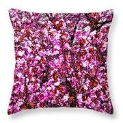 Blooming Pink Throw Pillow