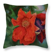 Blooming Poms Throw Pillow