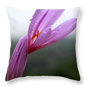 Blooming Purple Flower Throw Pillow