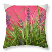 Blooming Spider Against Red Throw Pillow