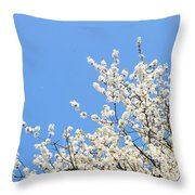 Blooming Tree Throw Pillow