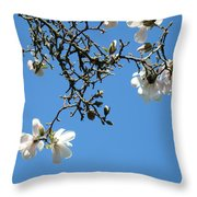 Blooming Trees Art Print White Magnolia Flowers Baslee Troutman Throw Pillow
