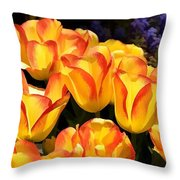 Blooming With My Smiling Soul Throw Pillow