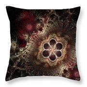 Blooming World II Throw Pillow