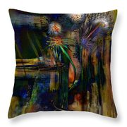 Blooms And Coils Throw Pillow