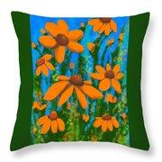 Blooms Of Orange Throw Pillow