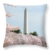 Blooms Of The Tidal Basin Throw Pillow