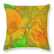 Blooms Yellow Throw Pillow