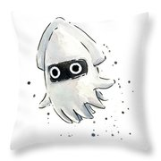 Blooper Watercolor Throw Pillow