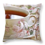 Blossoms Throw Pillow by Stephanie Calhoun