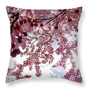 Blossom Artwork Spring Flowers Art Prints Giclee Throw Pillow