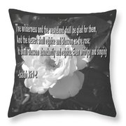 Blossom As The Rose Throw Pillow