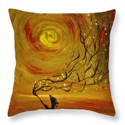 Blossom Throw Pillow by Evelina Popilian