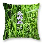 Blossom In The Grass Throw Pillow
