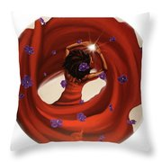 Blossom In This Light Throw Pillow