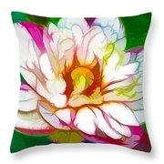 Blossom Lotus Flower Throw Pillow
